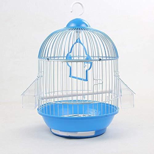 Qdesign Casa Estilo Economía Jaula de pájaro, Ronda Bird Maleta Hábitat de Aves del pájaro de Vuelo Carrier Cage, adecuados for los Loros pequeños pájaros / / Periquitos