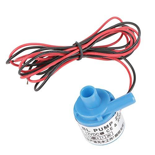 Mini bomba de agua de CC sin escobillas, DC12V 5W Bomba de agua sumergible de CC sin escobillas de grado alimenticio en miniatura para acuarios Fuentes Estanque de peces pequeños