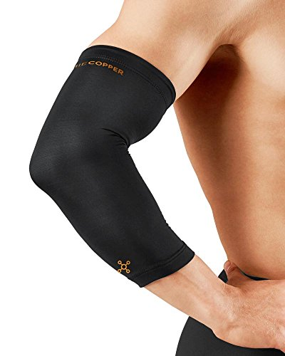 Tommie Copper - Unisex Compression Elbow Sleeve - Black – Small