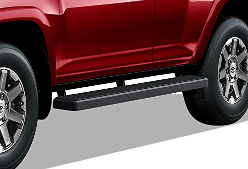 APS iBoard Running Boards 6 inches Matte Black Custom Fit 2010-2016 4Runner Trail & 17-20 TRD Off-Road & 2014-2020 SR5 (Nerf Bars Side Steps Side Bars)