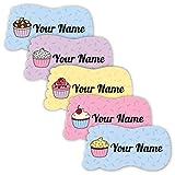 Etiquetas personalizadas impermeables para zapatos a prueba de arañazos (tema de cupcakes)
