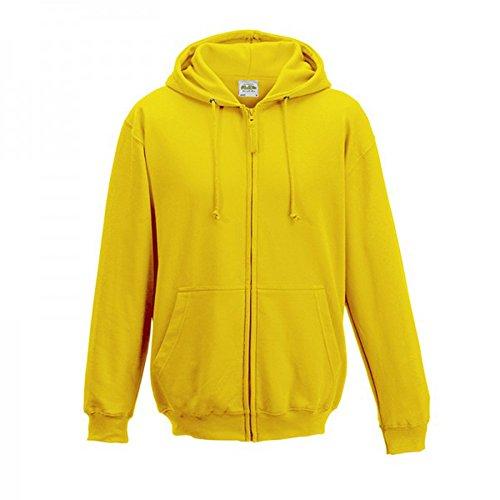 AWDis -Sudadera con capucha, cremallera y dos bolsillos independientes para hombre Amarillo Amarillo sol M