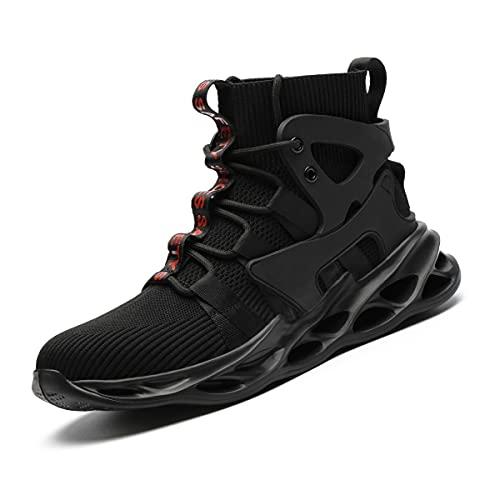 Aingrirn Zapatos de Seguridad para Hombre Mujer Zapatillas de Trabajo con Puntera de Acero Ligeros Respirable Calzado de Industrial y Deportiva (Color : Black, Size : 46 EU)