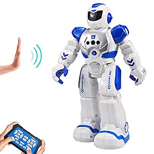 Sikaye RC Robot for Kids Intelligent Programmable Robot with Infrared Controller Toys, Dancing, Singing, Led Eyes…