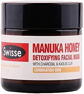 Swisse Honey Manuka Detoxifying Facial Mask With Charcoal & Kaolin C Moisturizing And Toning Skin, 70g