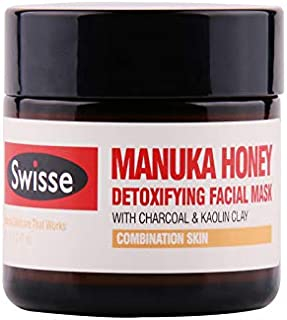 Swisse Honey Manuka Detoxifying Facial Mask With Charcoal & Kaolin C Moisturizing And Whitening Skin, 70g