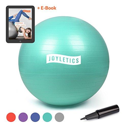 Joyletics® Gymnastikball »M« | Sitzball und Fitnessball für EIN entlastendes Sitzen und vielfältiges Ganzkörpertraining | Gymnastik-Ball Durchmesser 75 cm, türkis