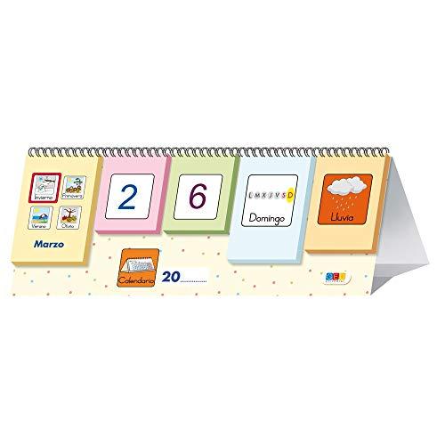 Picto-calendario / Editorial GEU / Recomendado a partir de 3 años/ Aprende jugando / Construye secuencias estacionales / Tarjetas móviles