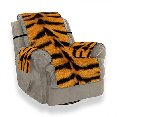 JEOLVP Haut Tiger Stripes Fell gestreift 44966 3840x2400 Firm Sofakissen T Kissen Stuhl Schonbezug Sofas Kissen Möbel Protector Für Haustiere, Kinder, Katzen, Sofa