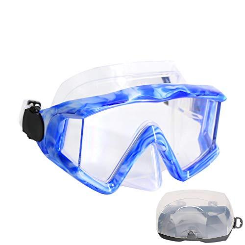 AQUA A DIVE SPORTS Scuba Snorkeling Dive Mask for Scuba Diving Snorkeling Free Diving (PC Lens Black)