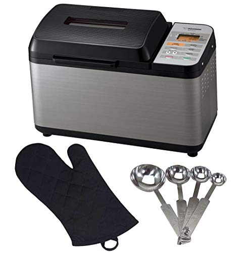 Zojirushi BB-PAC20 Home Bakery Virtuoso Breadmaker + Measuring Spoons and Oven Mitt