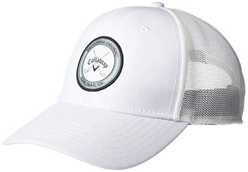 Callaway Gorra Ajustable para Hombre Golf 2020, Color Blanco
