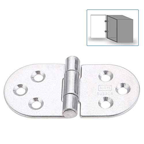 LYL Store Hinges Stainless Steel Cabinet Hinge Electric Box T-Strap Heavy Shed Gate Door Hinge for Marine Boat Window Furniture Hardware 80 * 40mm Docking