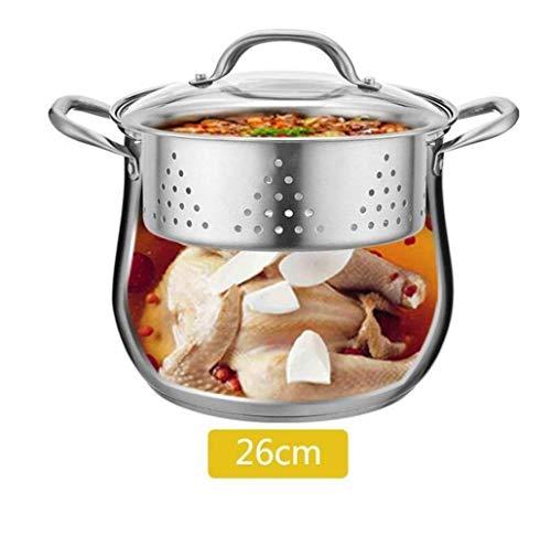 Marmite épais 304 soupe en acier inoxydable Pot Pot Épaississement Cuisinière à induction Ménage Cocotte, 26 cm Huangwei7210