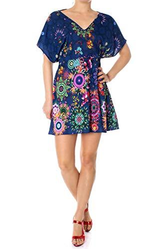 Desigual Damen Dress Swimwear HARVIR Woman Blue Kleid, Blau (Navy 5000), Large