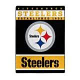 The Northwest Company Officially LicensedNFL Pittsburgh Steelers '12th Man' Plush Raschel Throw Blanket, 60' x 80', Multi Color