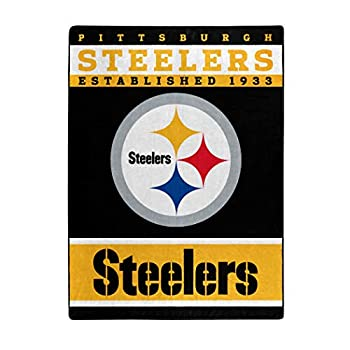 The Northwest Company Officially LicensedNFL Pittsburgh Steelers  12th Man  Plush Raschel Throw Blanket 60  x 80  Multi Color