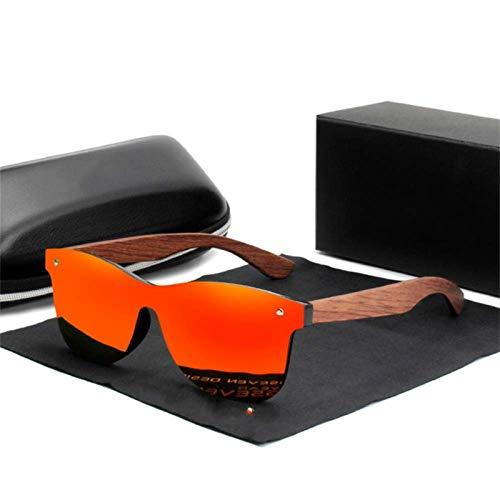 UKKD Gafas De Sol Polarizadas Muje Kingseven Natürliche Holz-Sonnenbrille-Männer Polarisierte Mode Sonnenbrillen Ursprüngliche Hölzerne Oculos De Sol Masculino,Rot Bubingaholz,Spanien