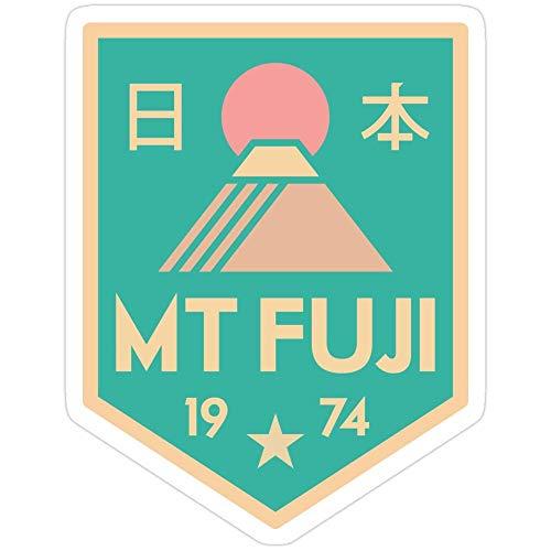 Vinyl Sticker For Cars, Trucks, Water Bottle, Fridge, Laptops Mount Fuji Retro Badge Stickers (3 Pcs/Pack) 4365568262774