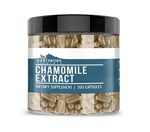 Chamomile Extract (200 Capsules) Concentrated, Pure & Natural with No Fillers, Non-GMO, Made in USA (740 mg Serving)
