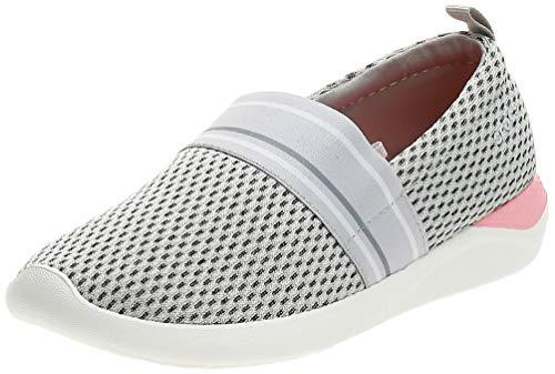 Crocs Damen Literide Mesh Slip On W Mokassin, Weiß (Pearl White/White 115.), 39 EU