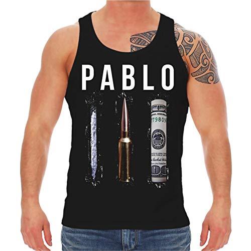 Männer und Herren Tank Top Trägershirt Crime Money Cocaine Rockn Roll Größe S bis 8XL
