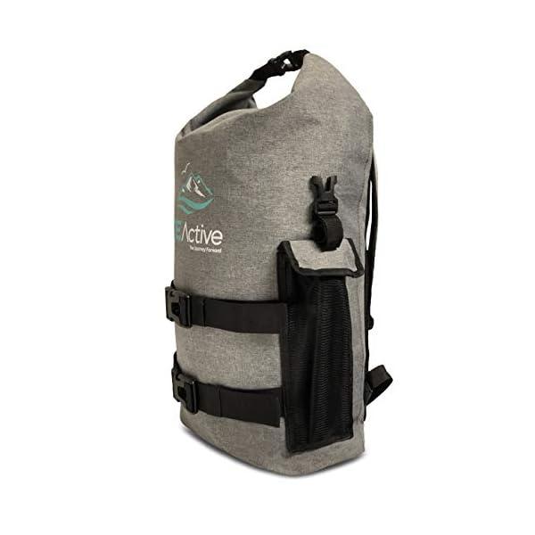 41zsLkvuilL. SS600  - FE Active Mochila Impermeable Dry Bag - Bolsa Estanca 25L para Deportes Acuáticos, Escuela, Aire Libre, Bolsa de Gimnasio, Camping, Mochilero, Senderismo, Cano, Kayak, Surf | Diseñada en California