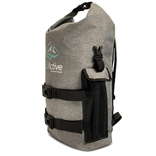 FE Active – 25 Liter Seesack Dry Bag Wasserfester Rucksack mit Laptopfach für Extreme Wassersportarten Rafting, Kajakfahren, Zelten, Rucksackurlaub, Wandern, Trekking | In Kalifornien, USA entworfen