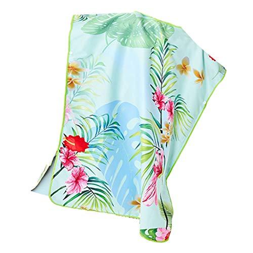 Sharplace Albornoz Infantil Poncho Toalla con Capucha para Piscina de Playa - Flores Tropicales