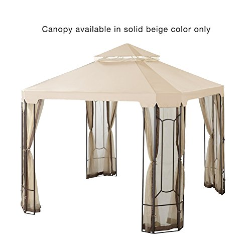 Garden Winds Replacement Canopy for The Cottleville Gazebo - Riplock 350 - Beige