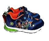 Disney Toy Story Woody & Buzz Lightyear Lightup Sneaker, Toddler/Little Kid, Size 9 Blue