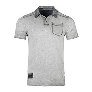 Men's Slim Fit Short Sleeve Vintage Garment Color Dyed Pocket Polo Shirts