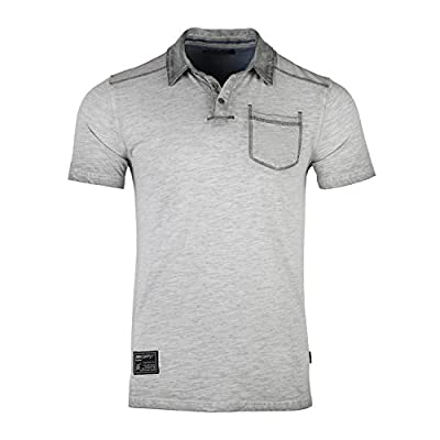 Men's Slim Fit Short Sleeve Vintage Garment Color Dyed Pocket Polo Shirts