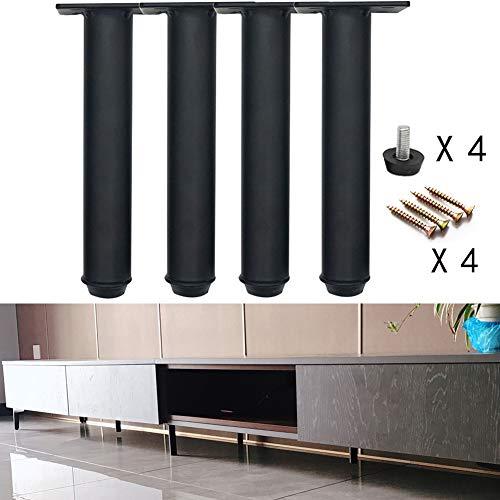 Patas de Soporte de gabinete Ajustables, Patas de Repuesto para Muebles de Hierro metálico(Juego de 4),para gabinete de TV/Cama/sofá/gabinete de baño