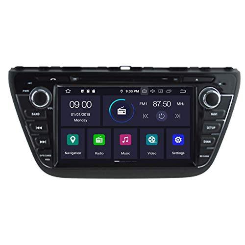 BWHTY Android 10 Car DVD Player GPS Stereo Head Unit Navi Radio Multimedia WiFi para Suzuki - -Cross 2013 2014 2015 2016 2017 2018 Soporte Control del Volante