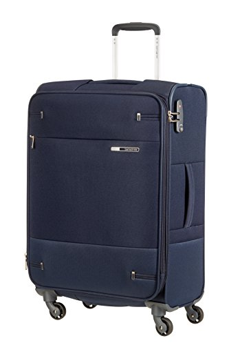 Samsonite Base Boost - Spinner M Erweiterbar Koffer, 66 cm, 67.5/73.5 L, Blau (Navy Blue)