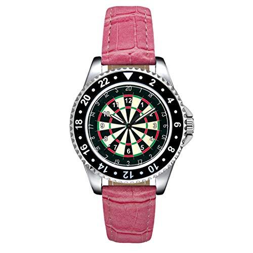 Timest - Tablero de Dardos - Unisex Reloj con Correa de Silicona Rosa Analógico Cuarzo SE1336pi