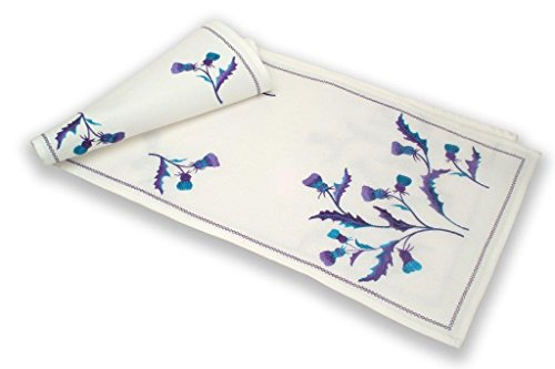 Justina Claire Table Runner (Large) in a Scottish Thistle Bute Design