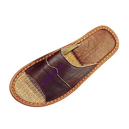 Bluestercool Antidérapant Slippers Été Hommes Fashion Pantoufles de Plage Slip-On Sandales D'intérieur Pour La Maison Rétro Chaussures Plates Tongs Chaussons