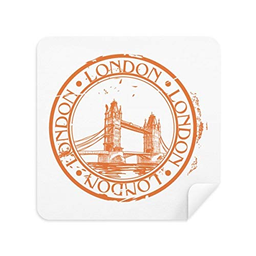 DIYthinker London England Brige Classic Country-Stadt-Glas-Putztuch Telefon Screen Cleaner Suede Fabric 2Pcs