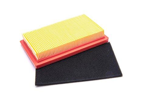 vhbw Luftfilter Set orange, schwarz passend für Honda GVX 150, GVX 160, HR 1950, HR 2150, HRB 475, HRB 535, MTD 1P61 EH Rasenmäher