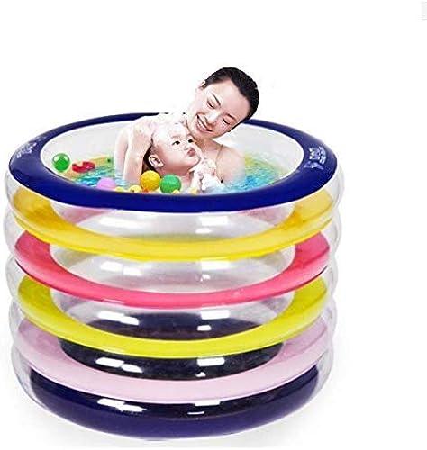 CHSSC Regenbogen-Swimmingpool, Aufblasbarer Swimmingpool, Rundes Spielzeug-aufblasbares Schwimmbad Der Umweltfreundlichen PVC-Kinder