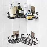 RYLAN Self-Adhesive Metal Bathroom Corner Rack Storage Shelves, Bathroom Storage Rack Corner, Stainless Steel Bathroom Corner Shelf Organizer Storage, Bathroom Shelf/Shelves Corner-1 Piece (Modern)