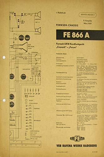 Service-Helfer 9. Fernseh-Chassis FE 866 A Fernseh-UKW-Rundfunkgerät