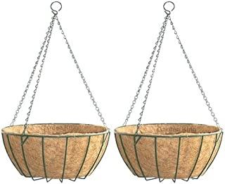 GARDEN KING- 12 INCH- Coir Hanging Basket-with Chain - Coir Hanging POTS for Home Garden (2)