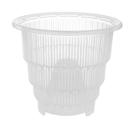 Aemiy Zoomarlous - Maceta ranurada para orquídeas de plástico transparente con agujeros, para cultivadores de orquídeas huecas y transpirables para jardinería, jardín, hogar, 12 cm, 14 cm, 17,7cm