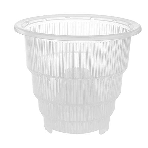 TTFLY Flower Pot, Clear Plastic Orchid Pots with Holes Hollow Breathable, Suitable for Gardening Garden Home (M)