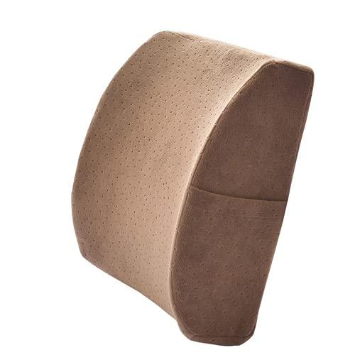 WEVB Almohada de apoyo lumbar cojín lumbar silla de oficina cintura alivio del dolor lumbar y protección de la espalda almohada lumbar apoyo (marrón)