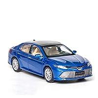 車のモデル 1/32に適用するカムリー合金ダイキャストモデルおもちゃ車サウンドライトプルバック子供のおもちゃ車大人の子供のおもちゃ (Color : Blue)