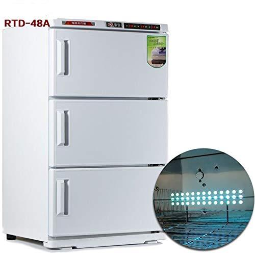 48L Dreischicht Mini kleine automatische Dampfbad Handtuch Schrank Heizung UV-Sterilisator Schönheitssalon